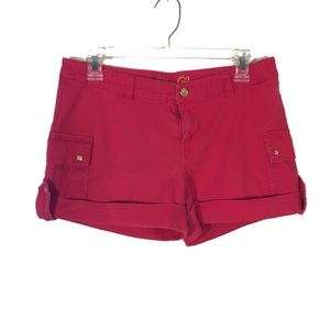 COOGI Red Cuffed Shorts